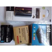Bateria Sony Np-f970 C/ 6600mah + Carregador Bc-v615 P Sony