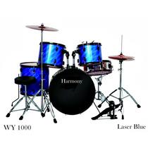 Bateria Harmony Wy1000-ac Acústica C/ Ferragens E Acessórios
