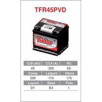 Bateria De Automovel Tudor De 45 Ah- Padrao Montadora-