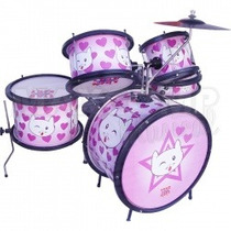 Bateria Infantil Luen Percussion - Cat - Maxcomp Musical