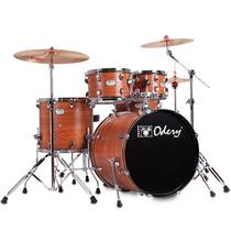 Bateria Acústica Odery In Rock Ir200hw Orange Wood - 014641