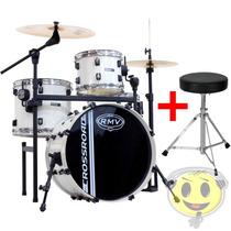 Bateria Rmv Crossroad Pro Jazz Rack Pedal + Banco - Kadu Som