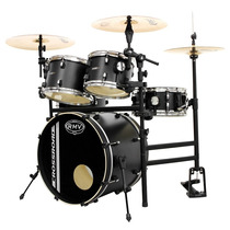 Bateria Rmv Cross Road Practical Com Rack / Pedal Preta