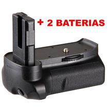 Grip De Bateria P/ Camera Nikon Dslr D3200 + 2 Baterias El14