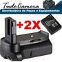 Grip De Bateria P/ Camera Nikon Dslr D3100 + 2 Baterias El14