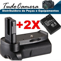 Grip De Bateria P/ Camera Nikon Dslr D5300 + 2 Baterias El14