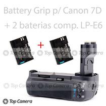 Battery Grip Compatível Canon 7d Bg-e7 + 2 Baterias Lp-e6