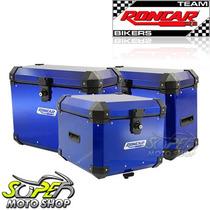 Kit Bauleto Traseiro + Lateral + Suporte Xt 660 R Azul
