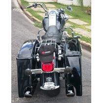 Alforges Em Fibra Alongados (bagger) Para Harley Touring
