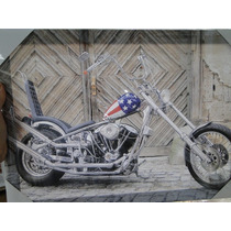 Quadro Tela Moto Easy Rider Harley Davidson Chopper Tuning