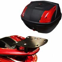Suporte Bagageiro Scam + Bau Bauleto Tm Tech Honda Pcx150