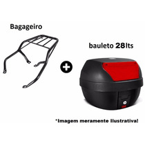 Baú Bauleto + Bagageiro 28 Lts Pro Tork Nxr 125-150 Bros 08