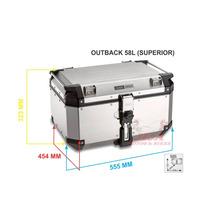 Bau Bauleto Outback 58 Litros Aluminio Top Case Givi