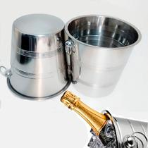 Kit 10 Balde Em Inox Champagne Gelo 5,5 Litros - 21,5 Cm