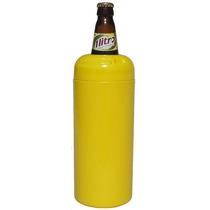 Porta Garrafa Térmico Para Vasilhame Cerveja Litrão Amarelo