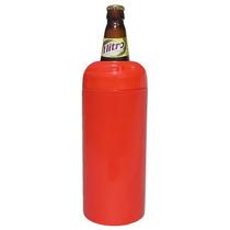 Porta Garrafa Térmico Para Vasilhame Cerveja Litrão Vermelho