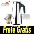Cafeteira Italiana Aço Inox 6 Cafés Inquebrável Frete Grátis