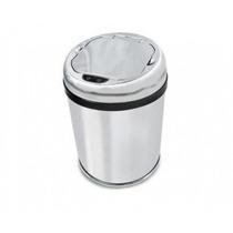 Lixeira Automática 3 Lts Aço Inox Com Sensor De Abertura Nfe