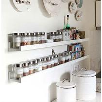 Prateleira Decorativa Porta Temperos Cozinha 60cm Mdf Branco