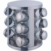 Porta Temperos Condimentos 12 Potes Inox 2757