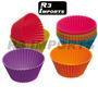 Forminha P/muffins/cupcakes C/12 Formas Silicone - Redonda