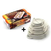 Forma Fábrica Coxinhas + Kit Com 4 Formas Pastel / Risoli