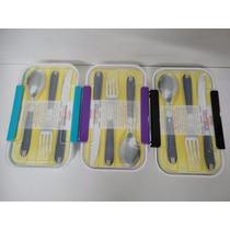 Kit Com 3 Marmita Marmibox Com Porta Talheres Microondas
