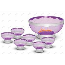 Jogo Sobremesas Plástico Conjunto 13 Pçs Doces Sorvetes Pote