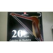 100 Cabides De Madeira Escuro