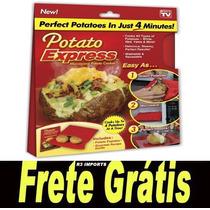 Potato Express Bag P/ Assar Batatas Microondas+ Frete Grátis