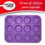 Forma Silicone Cupcake Bandeja 12 Cavidades Muffin