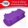 Forma De Silicone Retangular Bolo Pão Pudim Torta Assadeira