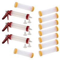 Kit 3 Máquinas Aplicadoras De Cream Cheese P/ Sushi+ 9 Tubos