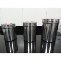 Porta Alimentos À Vácuo - - Aço Inóx - 3 Pçs Frete Gratis