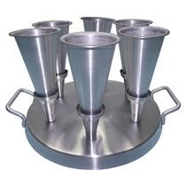 Kit Fabricação De Pizza Cone C/06 Cones Aluminio - Gastrobel