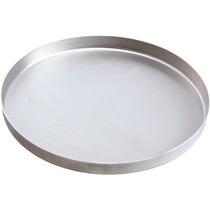 Kit 10 Fôrmas Em Alumínio Para Pizza De 35cm