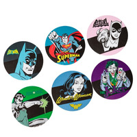 6 Porta Copos Mdf Dc Comics Super Heróis - Simbolos Heróis