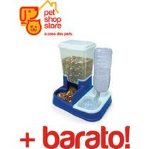 Bebedouro E Comedouro Automatico Para Cães Dual Pet + Barato