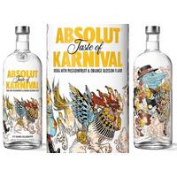 Vodka Absolut Karnival - Edição Limitada 1 Litro - Original.