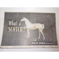 Antiga Propaganda Whisky Cavalo Branco P/ Distribuidores