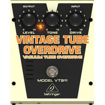 Vt911: Pedal Vintage Tube Overdrive Vt 911 - Behringer
