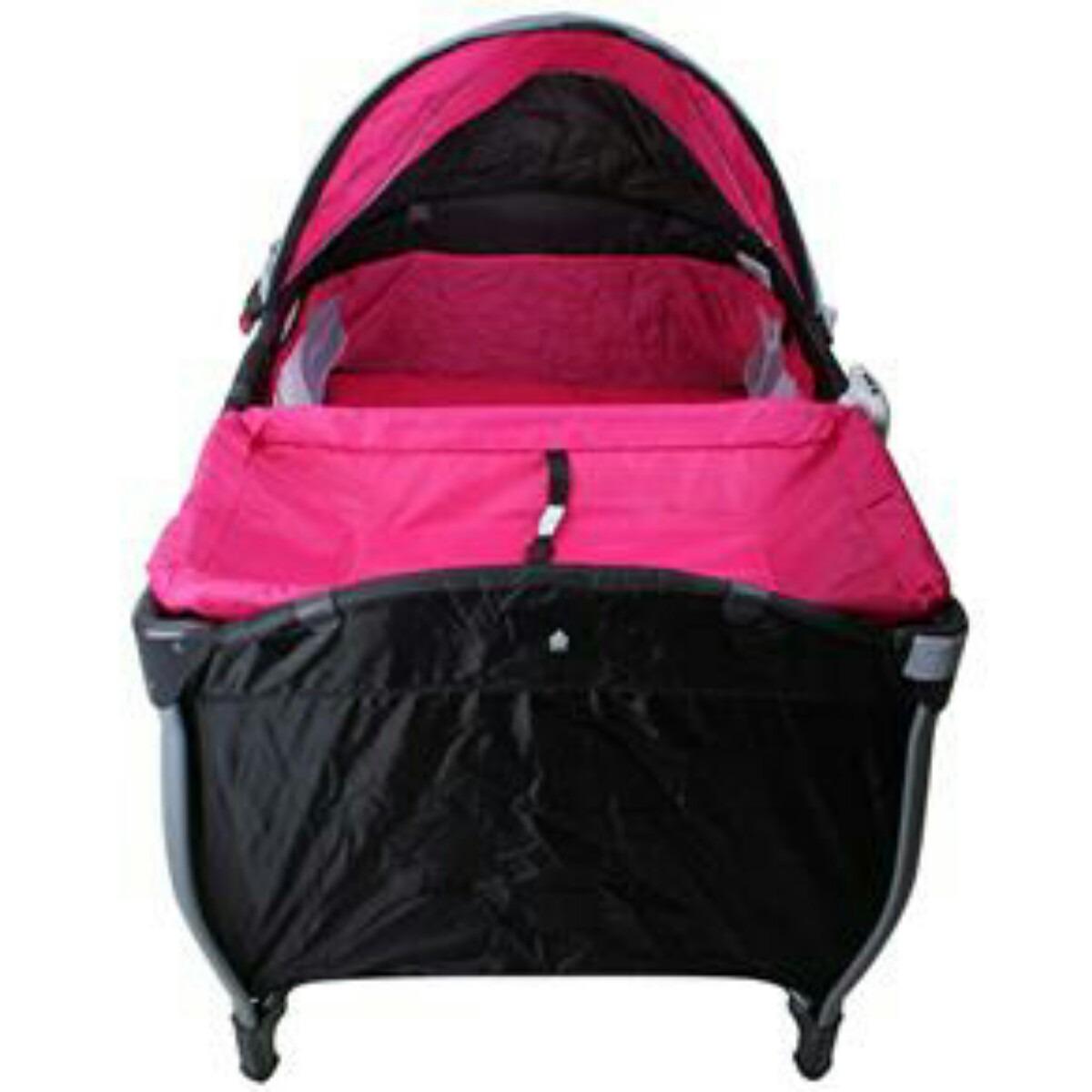 Berço Desmontável Baby Style Balanço Musical 1448004 Rosa R$  #B51746 1200x1200