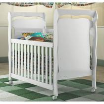 Berço Mini Cama Nanda Quarto Bebê Com Rodízios Carolina Baby