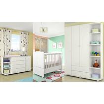 Dormitório 100% Mdf Infantil 03 Peças E Berço Mini Cama