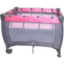 Berço Compacto Liso Rosa Baby Style