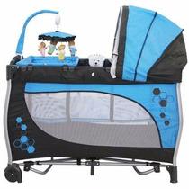 Berço Balanço Azul Baby Style (novo C/ Garantia)