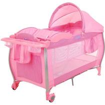 Berço Portátil Standard Check Pink