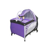 Berço Desmontável Baby Style Balanço Roxo