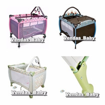 Berço Bebê Cercado Desmontavél C/regulagem De Altura Móbile