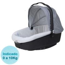 Moisés Para Bebê Neonato - Cinza E Preto Burigotto